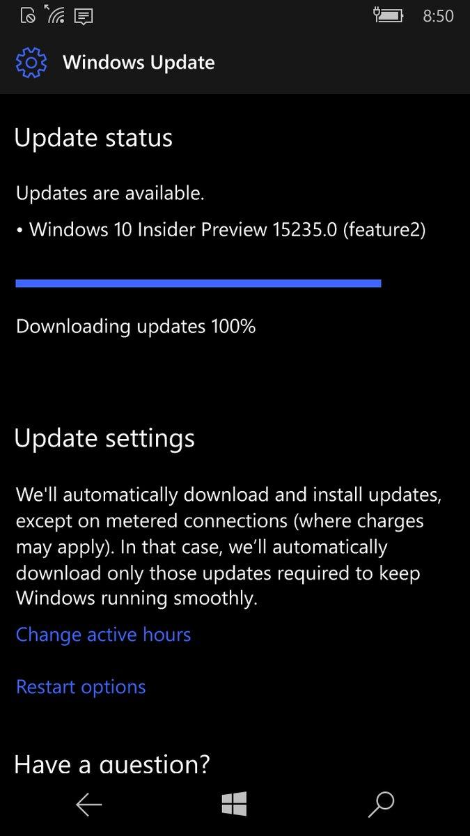 Win 10 Mobile Build 15235发布:Continuum支持竖屏模式