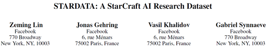 Facebook 开源史上最大星际争霸 AI 研究数据集