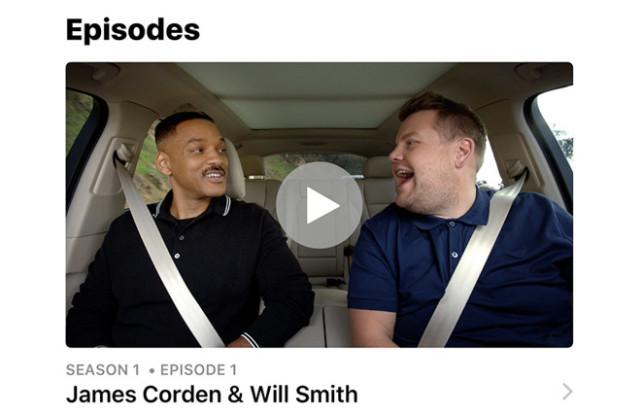 苹果开播原创视频《Carpool Karaoke》