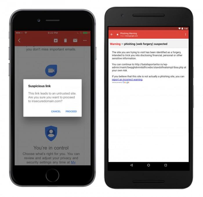 谷歌宣布为iOS版Gmail加入反钓鱼功能
