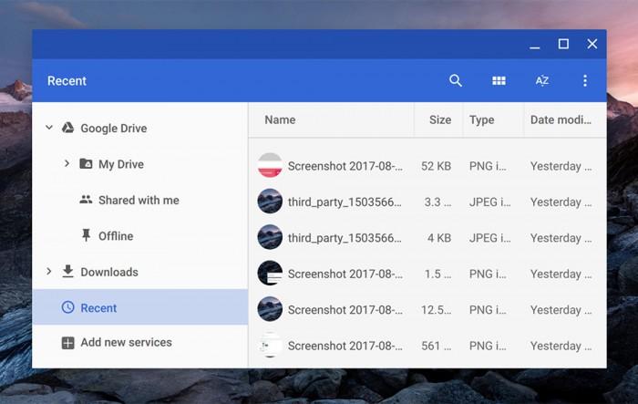 "Chromebook新功能:文件夹应用新增""最近""功能"