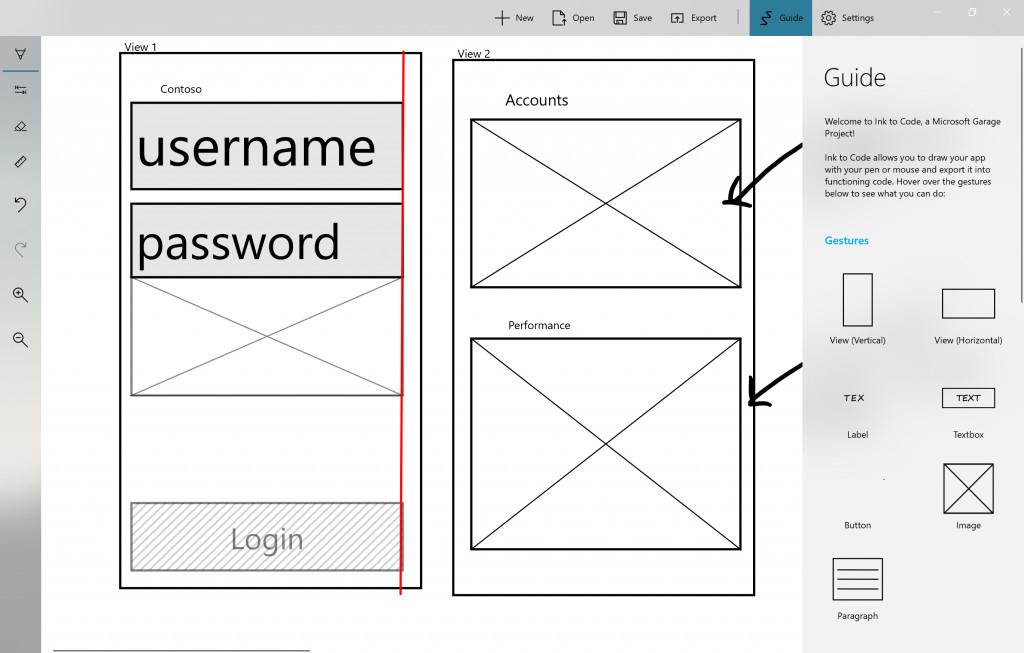 微软车库项目Ink to Code:将UI草图转换成代码