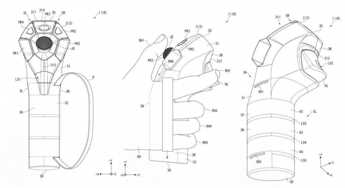 索尼申请PlayStation VR手柄新专利