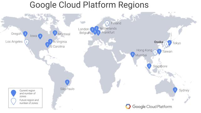 谷歌2019年将在大阪建立第二个云计算平台