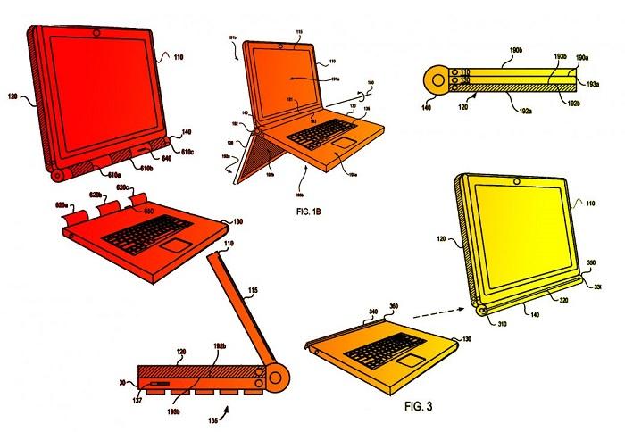 延续模块化手机理念 Google三段式笔记本设计专利曝光