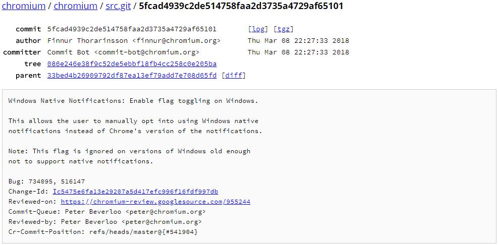 Chrome有望在Windows 10上支持原生通知功能