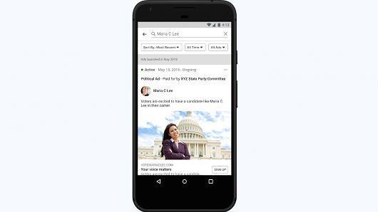 Facebook调整策略,政治广告明确标记出资方身份