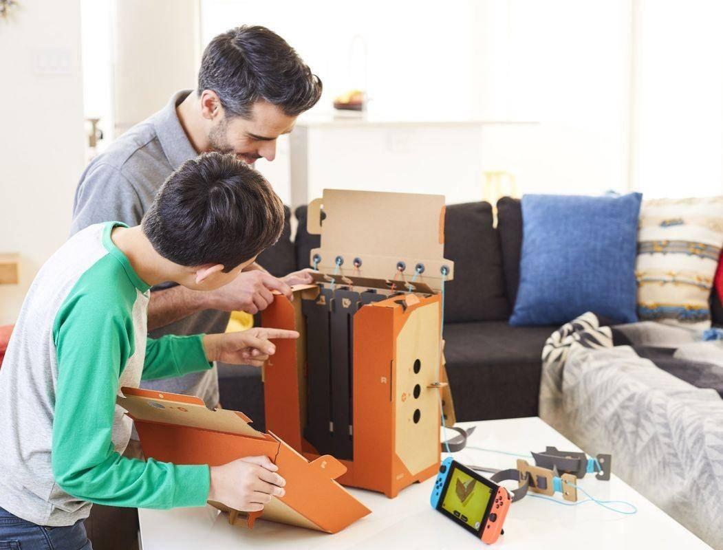 任天堂Labo开箱测评:70美元的硬纸板,好玩在哪儿?