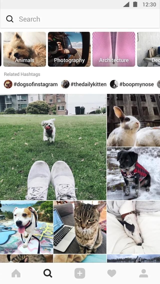 Instagram重磅更新 全新设计探索页面增加视频聊天功能