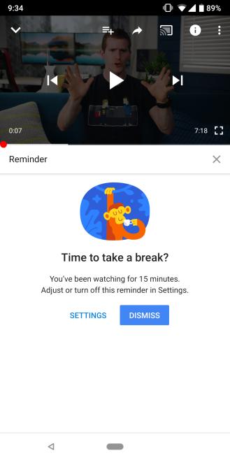 帮助用户养成良好数字习惯 谷歌为YouTube推定时暂停功能