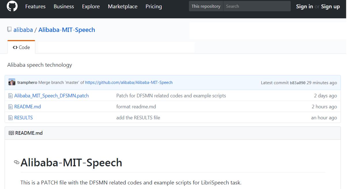 阿里达摩院公布自研语音识别模型DFSMN并宣布开源