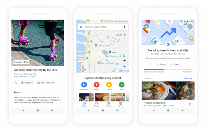 Android和iOS端Google Maps更新:引入大量个性化元素