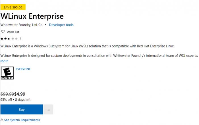 RedHat Enterprise Linux进入微软商店