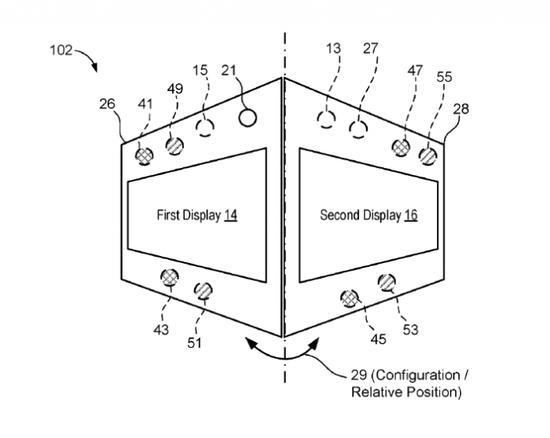 微软可折叠设备专利公示:可动态灵活控制摄像头组件