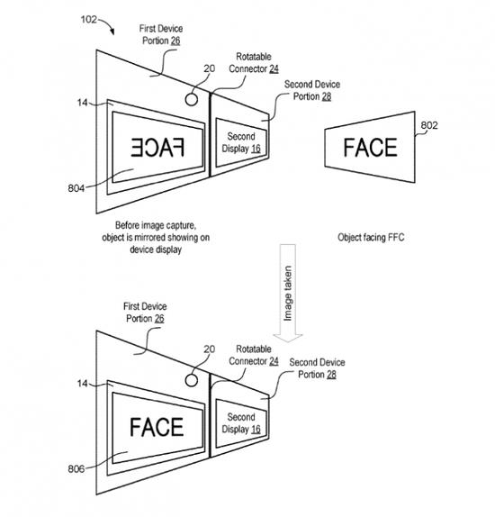 微軟可折疊設備專利公示:可動態靈活控制攝像頭組件